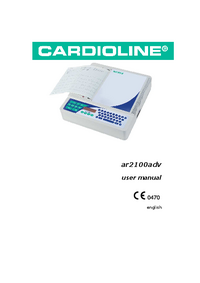 User Manual Cardioline ar2100adv