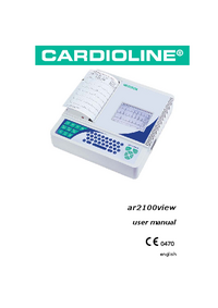 User Manual Cardioline ar2100view