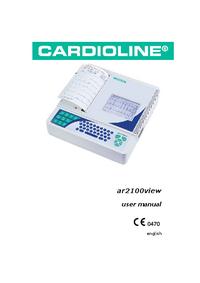 Руководство пользователя Cardioline ar2100view