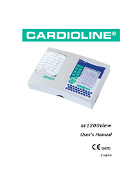 Manuel de l'utilisateur Cardioline ar1200view
