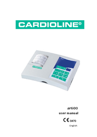 User Manual Cardioline ar600