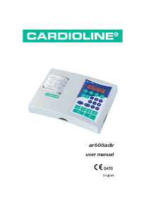 User Manual Cardioline ar600adv