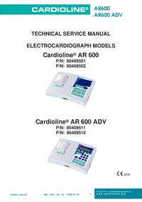manuel de réparation Cardioline AR600 ADV