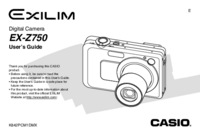 Manuale d'uso Casio Exilim EX-Z750