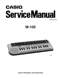 Manual de serviço Casio M-100