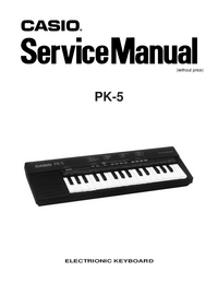 Manual de servicio Casio PK-5