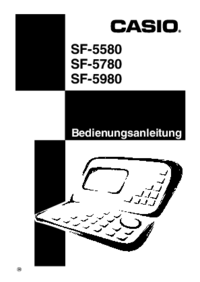 Manual del usuario Casio SF-5580