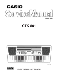 Manual de servicio Casio CTK-501