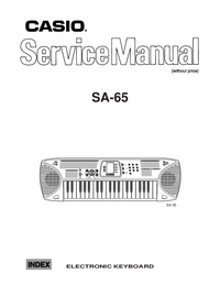 Service Manual Casio SA_65