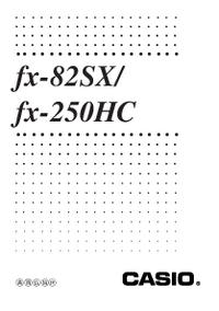 Bedienungsanleitung Casio fx-82SX/