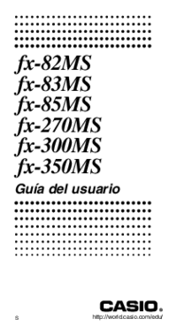 Manual del usuario Casio fx-83MS