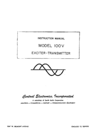 Serwis i User Manual CentralElectronics 100V