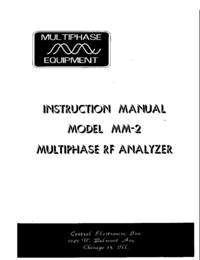 Service and User Manual CentralElectronics MM-2
