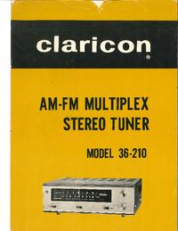 Service-en gebruikershandleiding Claricon 36-210