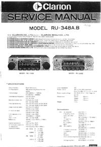 Service Manual Clarion RU-348A
