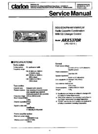 Instrukcja serwisowa Clarion ARX5370R