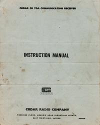 Обслуживание и Руководство пользователя Codar CR 70A
