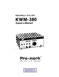 Service and User Manual Collins KWM-380