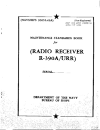 Manuale di servizio Collins R-390A/URR
