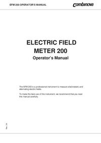 Руководство пользователя Combinova EFM 200