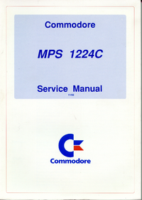 Service Manual Commodore MPS 1224C