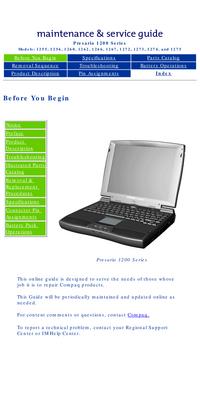 Руководство по техническому обслуживанию Compaq Presario 1265