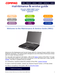 Manuale di servizio Compaq Presario XL390