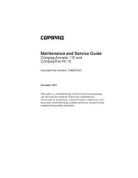 Manuale di servizio Compaq Evo N110