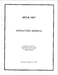 Manual do Usuário ComplianceDesign EFT/B-100