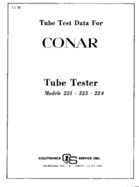 User Manual Conar 221