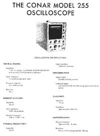 Service Manual Conar 255