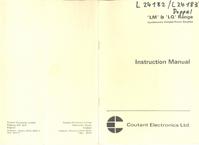 Service et Manuel de l'utilisateur CoutantElectronics LQ 100/30