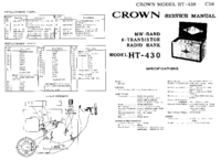 Serviceanleitung Crown HT-430