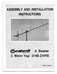 Service and User Manual Cushcraft 214FB