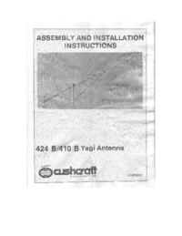 Serwis i User Manual Cushcraft 410 B