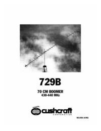 Manuel de l'utilisateur Cushcraft 729B