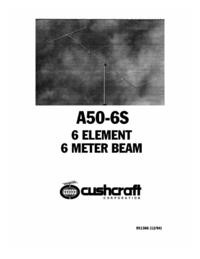 Руководство пользователя Cushcraft A50-6S
