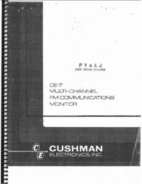 Servizio e manuale utente Cushman CE-7