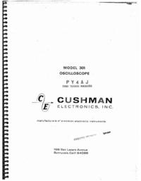 Service- und Bedienungsanleitung Cushman 301