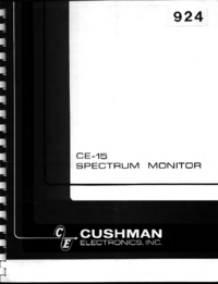 Serwis i User Manual Cushman CE-15