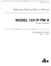 Service and User Manual DBX 1531X