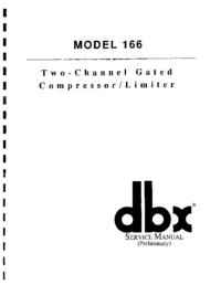 Serviceanleitung DBX 166