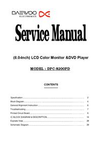 Service Manual Daewoo DPC-8200PD