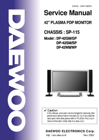 Manual de servicio Daewoo DP-42GM/GP