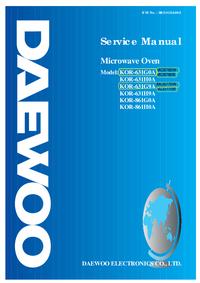 Manual de servicio Daewoo KOR-861H0A