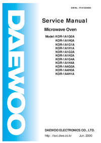 Service Manual Daewoo KOR-1A1H4A