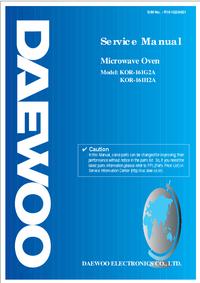 Manual de servicio Daewoo KOR-161G2A