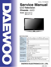 Manual de servicio Daewoo DEX-47T1S