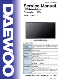 Manual de serviço Daewoo DEX-42T1S
