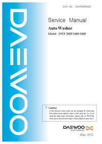 Manual de servicio Daewoo DWF-260P